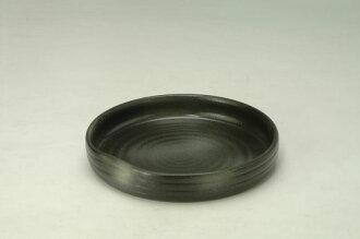 供四日市萬古焼花器陶器製水盤生ke花插花花瓶花道使用的花瓶東山-78