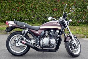 パーツ, マフラー 750 MORIWAKI ZEPHYR750 ONE-PIECE BLACK Kawasaki (01810-40213-20)