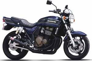98-08 ZRX400 モリワキ ワンピース ブラック マフラー [MORIWAKI ZRX400 '98-08 FULL EX. ONE-PIECE BLACK CAT.] Kawasaki/カワサキ ( 01810-40227-20 )画像