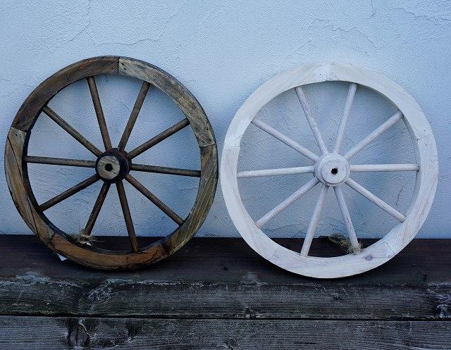 ガーデンウィールS 木製車輪 カントリー雑貨