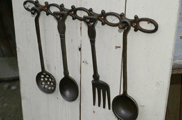 キャストカトラリーオブジェ キッチンツールの飾り