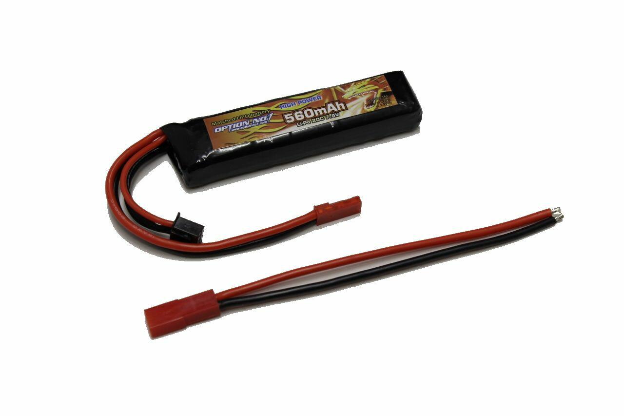 OPTION No.1 HIGH POWER Li-Po 7.4V 560mAh 電動ハンドガン用