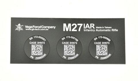 【ポイント10倍!5月8日8時59分まで】VFC M27IAR UID-TAG QRステッカー【商品計8,000円(税抜)以上でCYCバイオBB弾をプレゼント中!】
