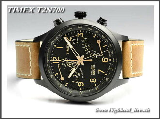 -Timex mens Flyback chronograph T2N700 leather belt