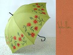 ★★シビラ ブランド傘  高級百貨店雨傘 草花 グリーン傘 かさ カサ レディース ブランド おしゃれ レディースファッション 雨傘