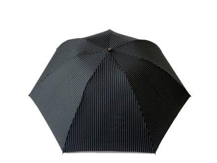 クラシコメンズステッチレザー折りたたみ傘軽量ミニ高級紳士傘雨傘開閉便利機能レザーハンドルストライプ保証あり傘かさカサ大きい雨傘メンズおしゃれブランドメンズファッション送料無料ブラック