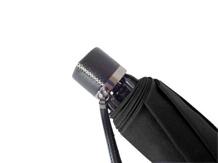 全品送料無料クラシコメンズステッチレザー折りたたみ傘軽量ミニ開閉便利機能レザーハンドル高級紳士傘雨傘傘かさカサ雨傘メンズおしゃれブランドメンズファッション保証付きストライプブラック♪