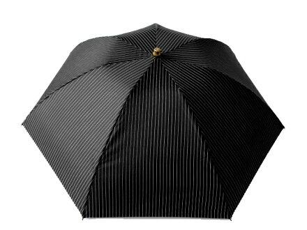 送料無料クラシコメンズ竹製手持ちバンブーハンドル折りたたみ傘軽量高級紳士傘雨傘傘かさカサメンズおしゃれブランドメンズファッション保証付きブラックストライプ♪