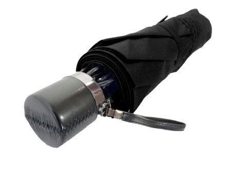 全品送料無料クラシコメンズステッチレザー折りたたみ傘軽量ミニ高級紳士傘開閉便利機能レザーハンドル格子傘かさカサ大きい雨傘メンズおしゃれブランドメンズファッション保証付きブラック♪