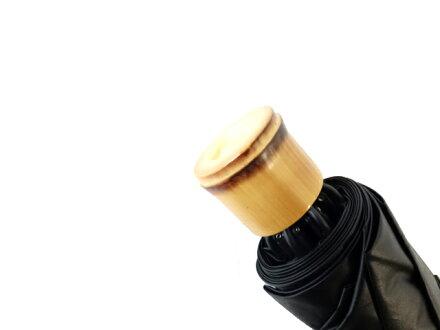 送料無料クラシコメンズUVカット99%以上遮光コーティング晴雨兼用日傘折りたたみ傘軽量ミニ開閉便利機能高級紳士傘保証付きバンブーハンドルブラック♪#