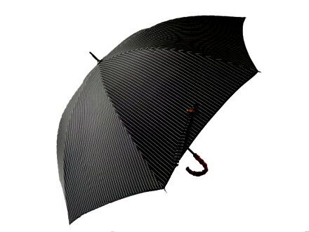 ★★送料無料クラシコメンズ高級紳士傘大判120cm安全ロクログラスファイバー骨8本骨傘かさカサ大きい雨傘メンズおしゃれブランドメンズファッション保証付きバンブー持ち手ストライプブラック◎