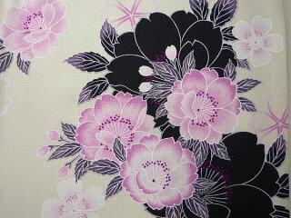 着物レンタル春秋冬用レディース袷小紋セット「Mサイズ」SEIKOMATSUDA白・桜和服レンタルの画像2