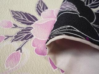 着物レンタル春秋冬用レディース袷小紋セット「Mサイズ」SEIKOMATSUDA白・桜和服レンタルの画像3