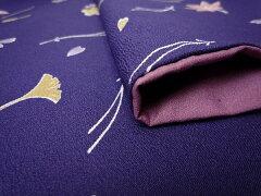 着物レンタル春秋冬用レディース袷小紋セット「Sサイズ」紺・秋草・吹寄せ(送料無料)の画像4