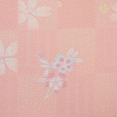 着物レンタル春秋冬用レディース袷小紋袋帯セット「XSサイズ」淡ピンク・香の図(送料無料)七五三/卒園式/卒業式母ママの画像3