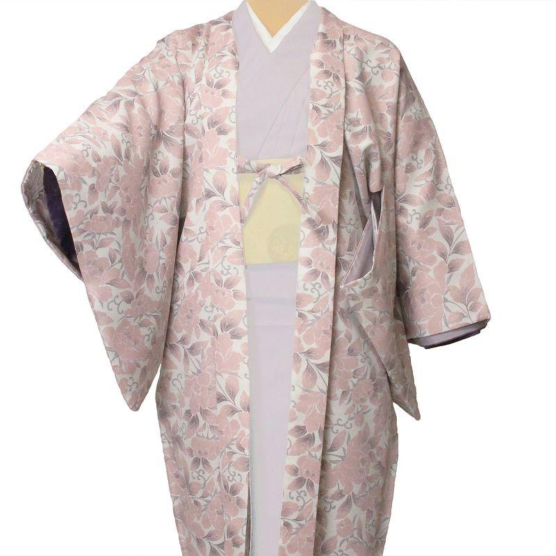 【レンタル】羽織 レンタル(女性用・レディース)「フリーサイズ/Fサイズ」ピンク・牡丹(着物・はおりレンタルオプション) (c718)
