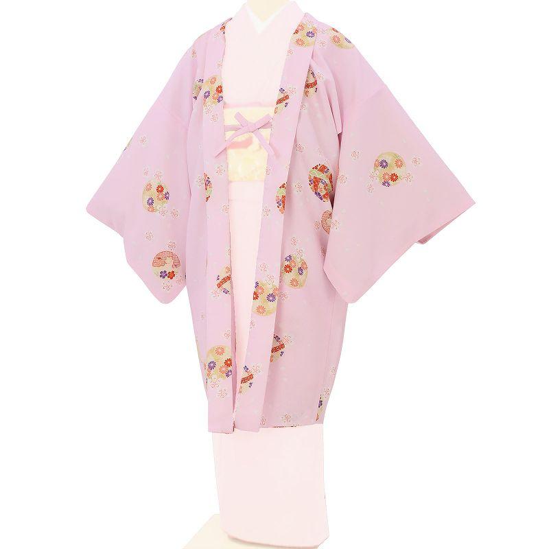【レンタル】羽織 レンタル オプション ピンク・毬文 フリーサイズ (c729)