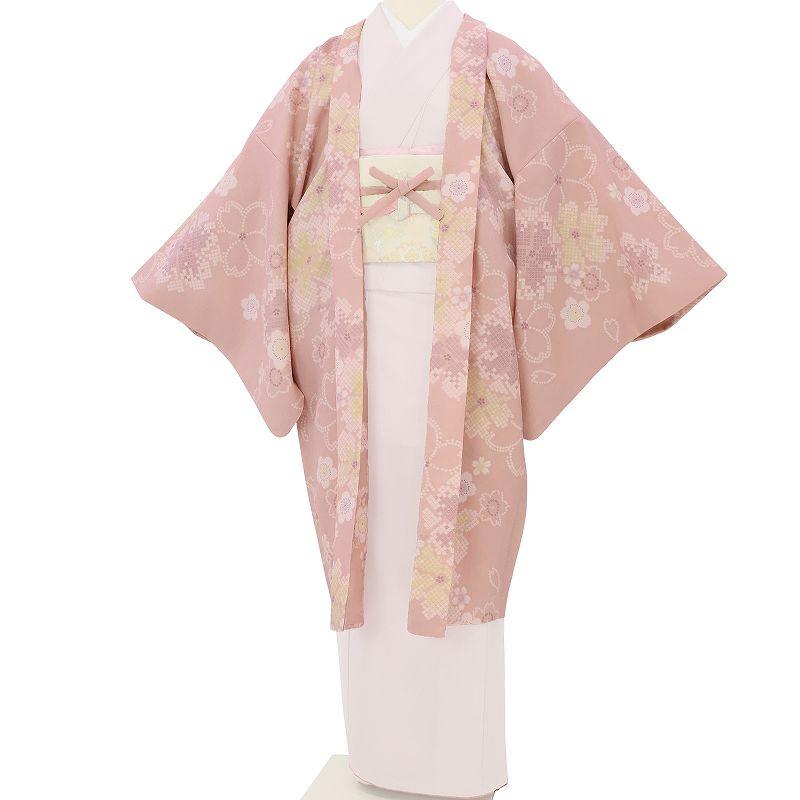 【レンタル】羽織 レンタル オプション ピンク・鹿の子大桜文 フリーサイズ (c731)