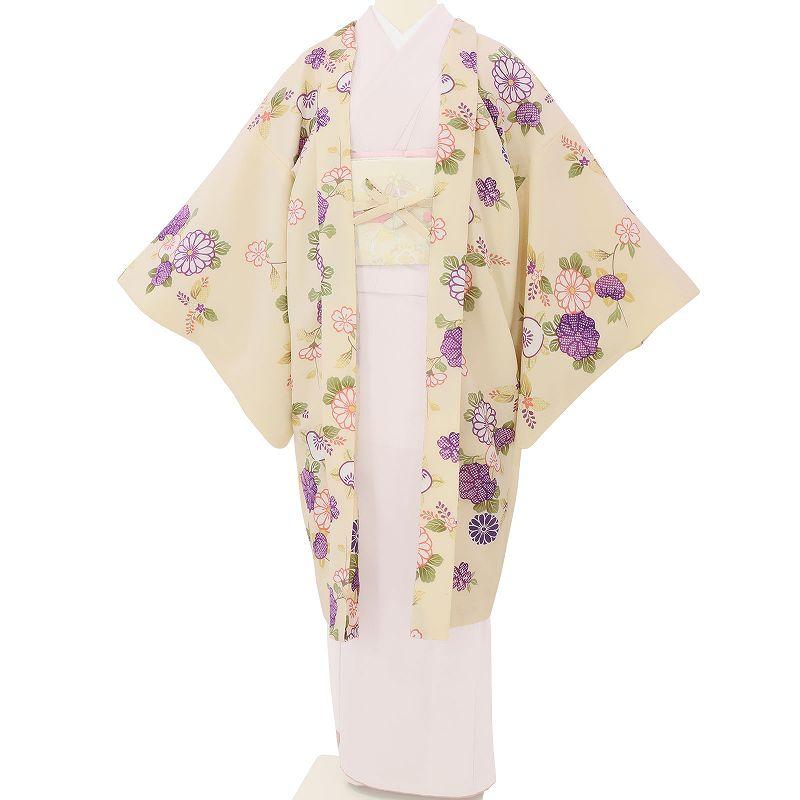【レンタル】羽織 レンタル オプション 白・菊橘文 フリーサイズ (c734)