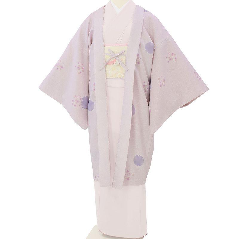【レンタル】羽織 レンタル オプション 淡ピンク・雪輪とび柄文 フリーサイズ (c736)