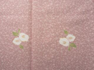 〔着物レンタル〕単衣ハイグレードレンタル(初夏・初秋用/女性用レディース単衣)「Mサイズ」ピンク・椿の画像3