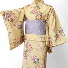 宅配レンタル単衣着物セット「XSサイズ」RYOKOKIKUCHI(初夏・初秋用/女性用レディース単衣)の画像