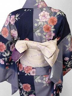 宅配レンタル単衣着物セット「Mサイズ」RYOKOKIKUCHI(初夏・初秋用/女性用レディース単衣)の画像2