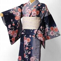 宅配レンタル単衣着物セット「Mサイズ」RYOKOKIKUCHI(初夏・初秋用/女性用レディース単衣)の画像
