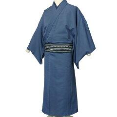 着物レンタル男メンズ「Lサイズ」紺・アンサンブル・紬(春秋冬用/袷)和服七五三パーティーの画像2