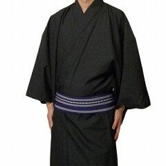 【着物レンタル】「3Lサイズ」黒グレー(春秋冬用/男物メンズ袷紬)トールサイズの画像2