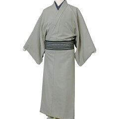 着物七五三レンタル父「Mサイズ」利休茶・薄グレー紬(春秋冬用/男着物メンズ袷)和服の画像2