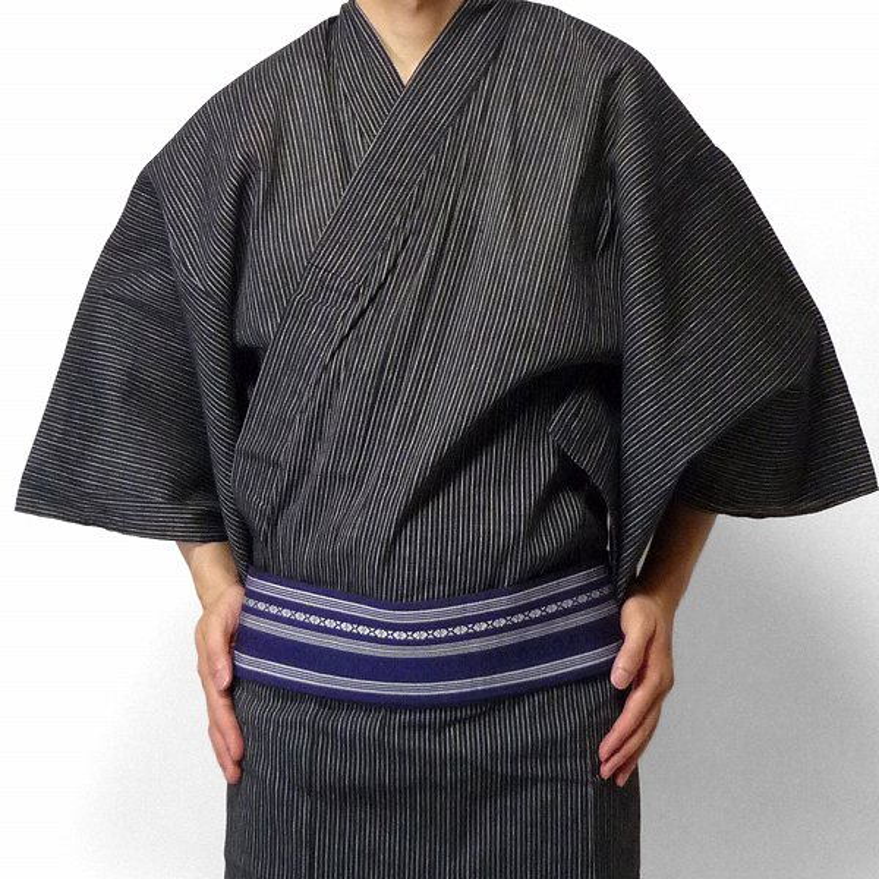 【レンタル】〔浴衣 レンタル〕ゆかたレンタル(男物浴衣セット)「XSサイズ」(夏用/男性用メンズ) (9031)