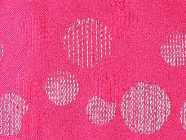 【レンタル】半幅帯 レンタル (浴衣用・単衣用) ピンク 水玉 変更オプション (夏/女性用) (hp717)