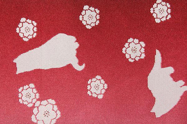 【レンタル】半幅帯 レンタル 〔お好きな帯を選べる変更オプション〕赤・ネコ・さくら(春秋冬用/女性用)【返却送料無料】