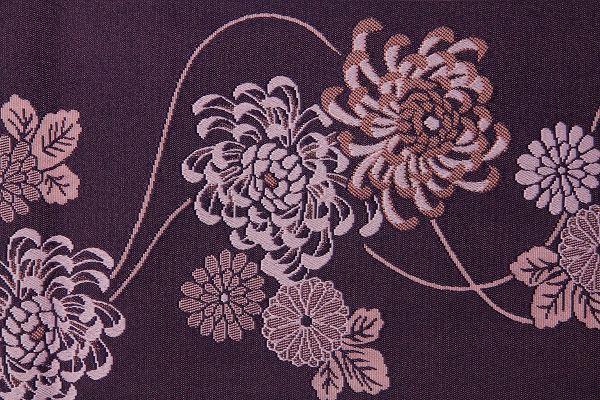 【レンタル】半幅帯 レンタル 〔お好きな帯を選べる変更オプション〕紫・菊(春秋冬用/女性用)【返却送料無料】