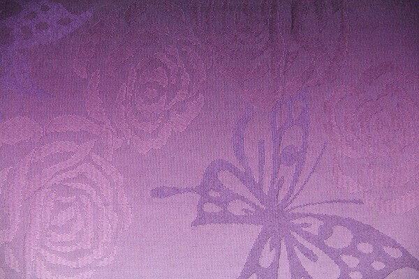【レンタル】半幅帯 レンタル (夏物・浴衣用・単衣用)紫・蝶ボカシ〔お好きな帯を選べる変更オプション〕(春秋冬用/女性用)【返却送料無料】