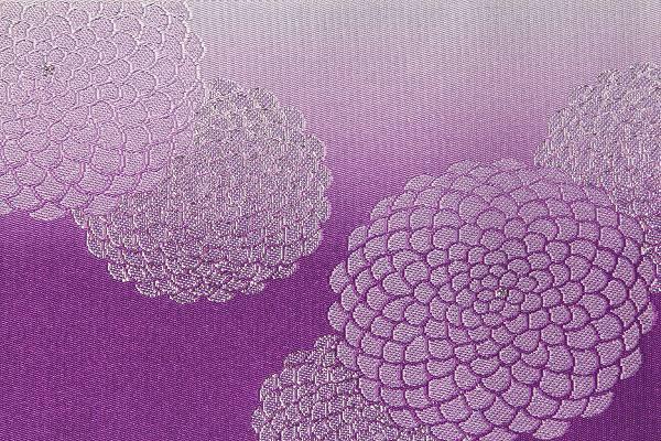 【レンタル】半幅帯(夏物・浴衣用)紫・菊レンタル〔お好きな帯を選べる変更オプション〕(夏用/女性用)【返却送料無料】