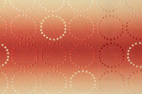 【レンタル】半幅帯 レンタル 〔お好きな帯を選べる変更オプション〕オレンジ・丸文(春秋冬用/女性用)【返却送料無料】