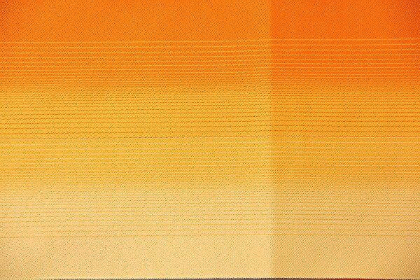 【レンタル】半幅帯 レンタル (夏物・浴衣用)オレンジ・横縞ボカシ 〔お好きな帯を選べる変更オプション〕(春秋冬用/女性用)【返却送料無料】