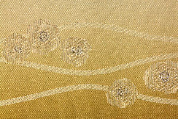 【レンタル】半幅帯(夏物・浴衣用)黄・バラ立涌レンタル〔お好きな帯を選べる変更オプション〕(夏用/女性用)【返却送料無料】