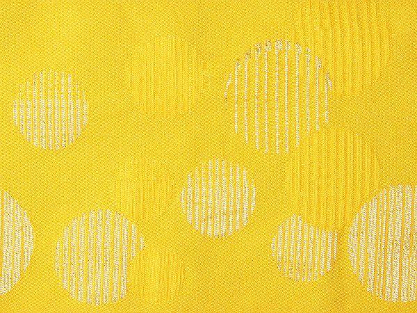 【レンタル】半幅帯 レンタル (浴衣用・単衣用) 黄色 水玉 変更オプション (夏/女性用) (hy708)
