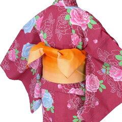 浴衣レンタル/浴衣セット「Lサイズ」赤バラレトロ夏祭り花火大会の画像2