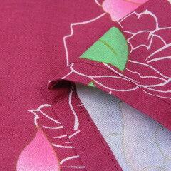 浴衣レンタル/浴衣セット「Lサイズ」赤バラレトロ夏祭り花火大会の画像4