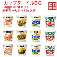 日清食品カップヌードルbigビッグ4柄×3個12食セット送料無料