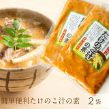 /送料無料/信州の味を簡単にたけのこ汁の素 簡単竹の子味噌汁2袋セットでお届け【ポスト投函お届け】