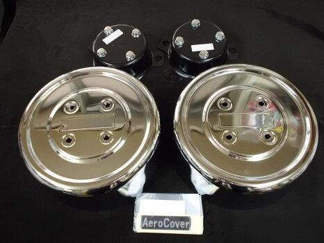 【送料無料】大型ISO規格ホイルナット10穴用エアロカバー(リヤ軸用)