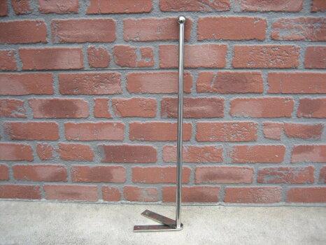【送料無料】ステンレス丸パイプ旗棒全長約90cm2本セット
