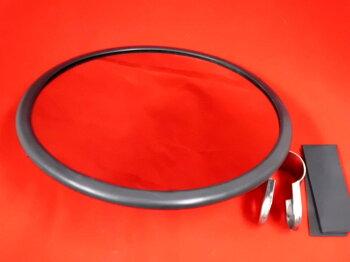 ウロコ平面ミラー直径20cm丸棒ステー