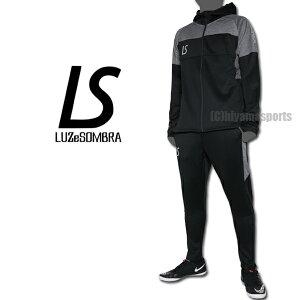 LUZeSOMBRAルースイソンブラシングルフェイスジャージフーディーフルジップジャケット&シングルフェイススーパースリムフィットロングパンツF1911114-BLK-F1911410-BLKサッカーフットサル