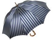 おしゃれなボーダー柄10本骨傘ディライン(グレー)前原光栄商店の日本製メンズ雨傘男匠